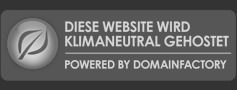 Diese Website wird klimaneutral gehostet. Powered by domainFACTORY